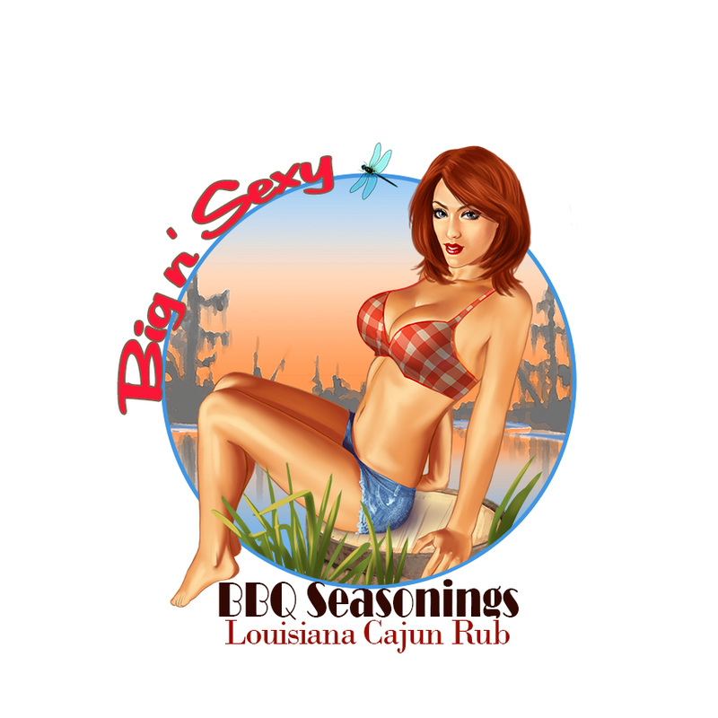 pin up of a cajun girl in the bayou